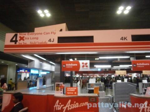 ドンムアン空港エアアジアカウンター