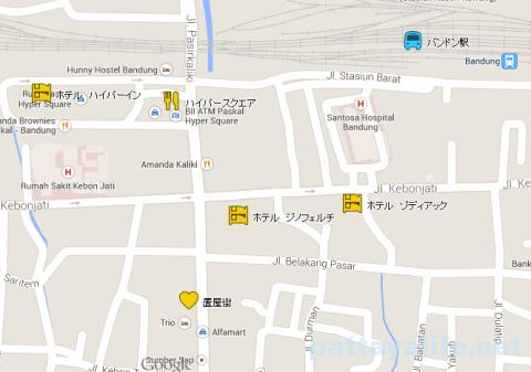 バンドゥン バンドン 置屋地図