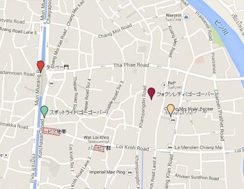 チェンマイ夜遊び地図