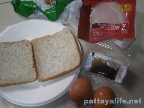 朝食パンとハムとゆで卵