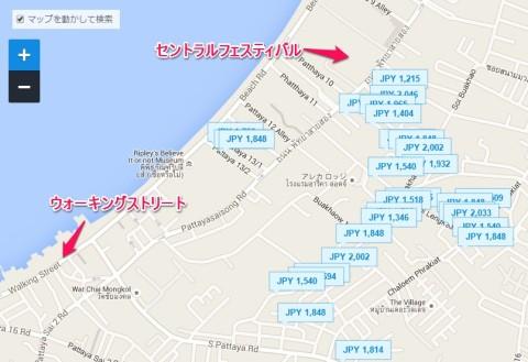 パタヤ安宿マップ