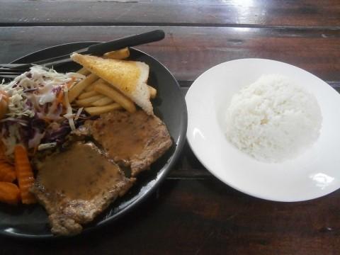 ソイボンコットステーキ屋ポークステーキ定食