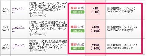 楽天カード期間限定ポイント (3)