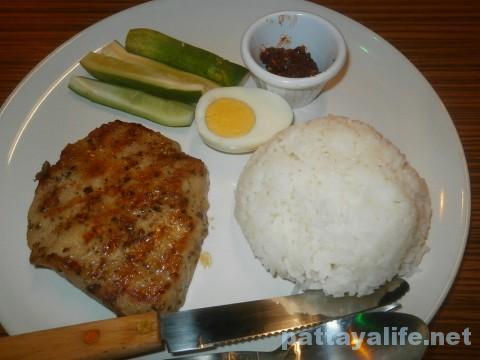 ステーキ屋ガオライサイサームポークステーキ定食 (1)