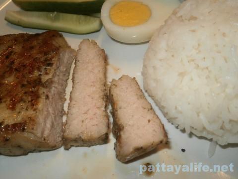 ステーキ屋ガオライサイサームポークステーキ定食 (2)