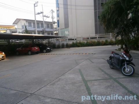アレカロッジの駐車場 (2)