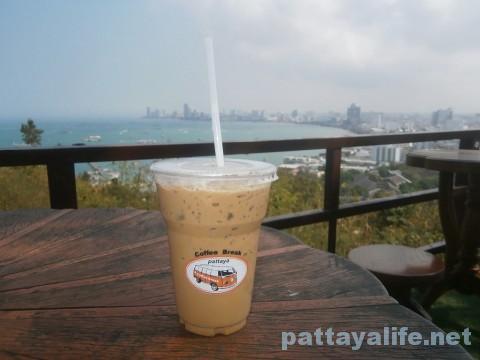 パタヤヒル展望台カフェのコーヒー