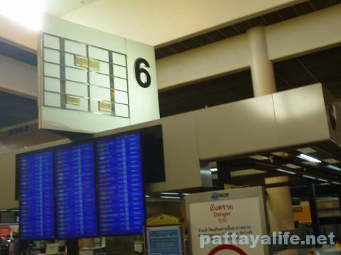 ドンムアン空港チェックインカウンター