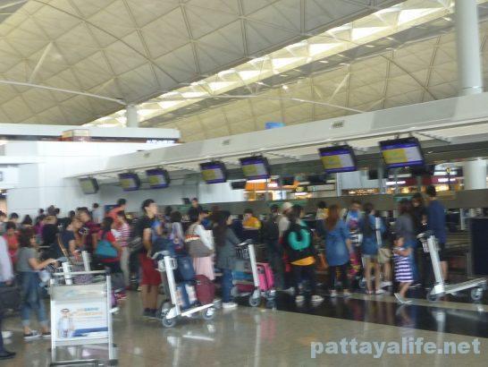 香港空港セブ・パシフィックチェックイン