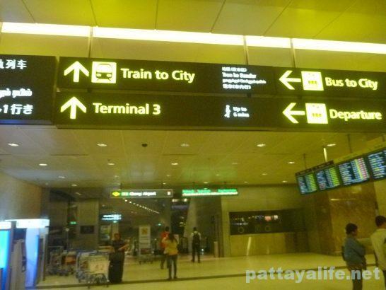 シンガポールチャンギ国際空港到着ターミナル (3)