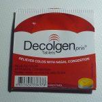 タイの薬局で買える風邪薬、Decolgenは強力