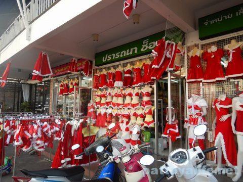 市場のクリスマス衣装売り