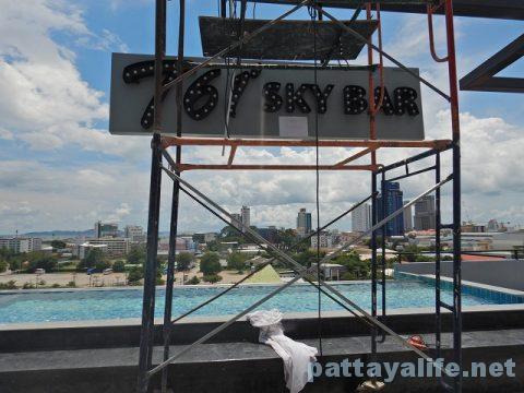 Tホテルパタヤ (35)屋上プールとサウナ