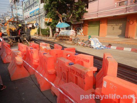 パタヤ道路工事