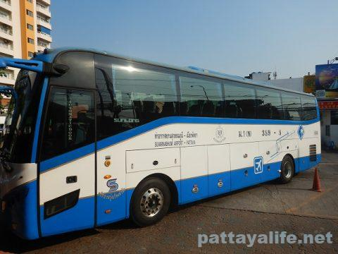 パタヤからスワンナプーム空港経由ドンムアン空港へ関空へ (1)