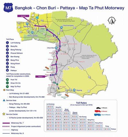 モーターウェイ7号線地図 (1)