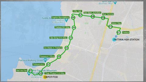 パタヤモノレール計画路線図 (1)